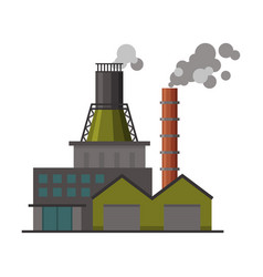 power plant building industrial factory with vector image