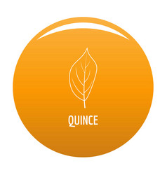 quince leaf icon orange vector image