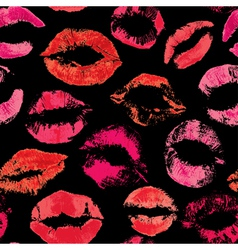 Red lips pattern vector image