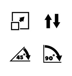 Rotate arrow turn simple related icons vector