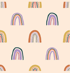 seamless childish pattern with hand drawn vector image