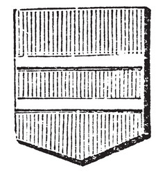 Shield showing barrulet is frequently used to vector