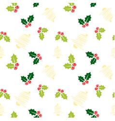 Sketch christmas pattern vector
