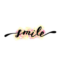 smile inspirational quote about happy modern vector image