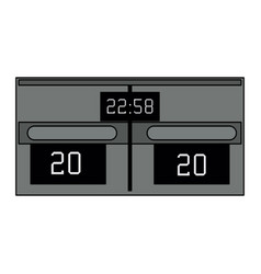 sports scoreboard device vector image