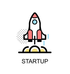 Startup rocket graphic icon vector