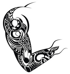 Tattoo design for a shoulder vector