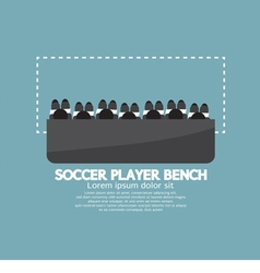 Top View Of Soccer Player Bench vector image