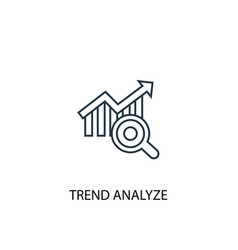 Trend analyze concept line icon simple element vector