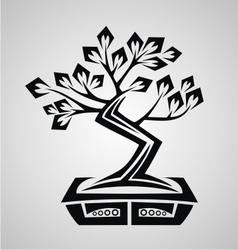 Tribal Bonsai vector image