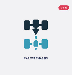 Two color car wit chassis icon from transport vector