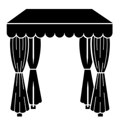 Wedding tent icon simple style vector