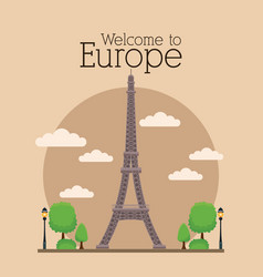 welcome to europe vector image