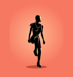 woman doing aerobic vector image