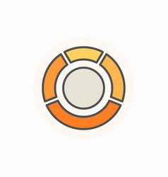 circle diagram colorful icon vector image vector image