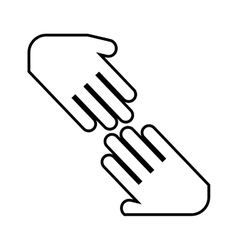 hands shake isolated icon design vector image