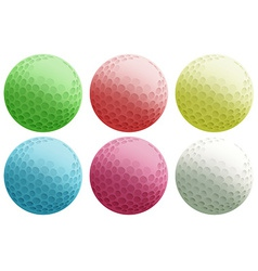 Six colourful balls vector image vector image