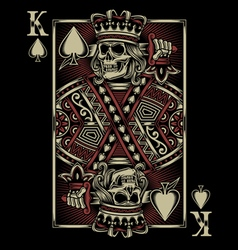 Skull Playing Card vector image vector image