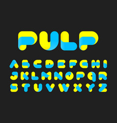 Stylised twisted pulp font vector