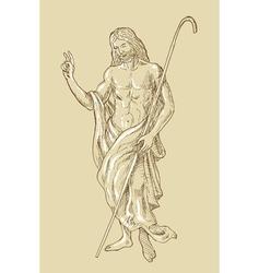 The Risen Resurrected Jesus Christ standing vector image