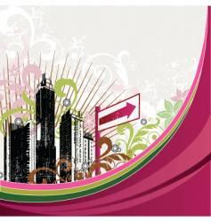 Urban city design vector