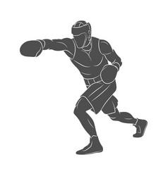 boxer man mixed martial arts fighter vector image