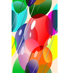 Colorful balloons flying vector
