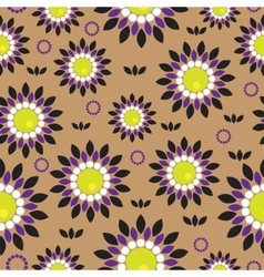 Seamless background with abstract flowers vector image vector image