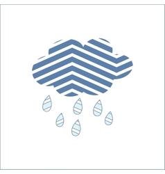 Cloud Rain Meteorology Season Sky Symbol vector image vector image
