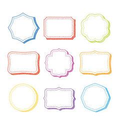 set of hand drawn frames vector image vector image
