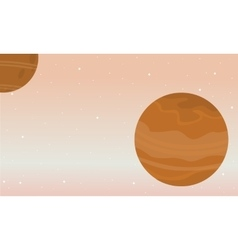 Space nature landscape collection stock vector