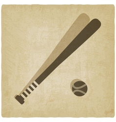 sport baseball logo old background vector image