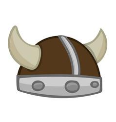 viking helmet isolated vector image