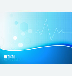 blue medical background concept poster design vector image vector image
