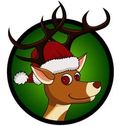 deer head cartoon vector image vector image