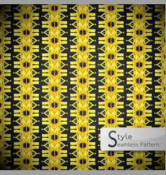 Floral row ribbon gold vintage geometric seamless vector
