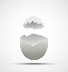 icons broken chicken egg vector image