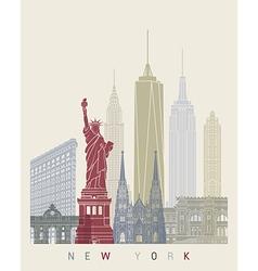 New York skyline poster vector image
