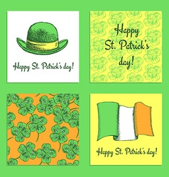 Sketch set of St Patricks day posters vector image vector image
