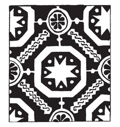 13th century weave design its also a 14th century vector image