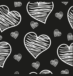 a heart love abstract background pattern vector image