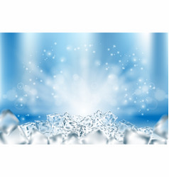 Abstract icy cubes background ice vector