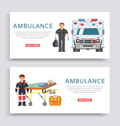 ambulance doctors paramedics emergency service vector image