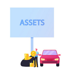 Assets budget planning valuable and profitable vector