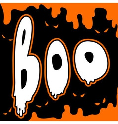 Boo card vector