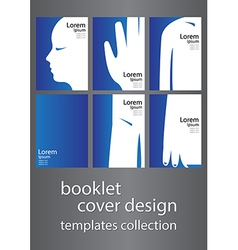 Booklet cover design templates collection vector
