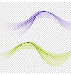 bright green blue speed abstract lines flow vector image