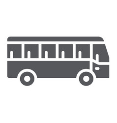 bus glyph icon transport and transportation vector image