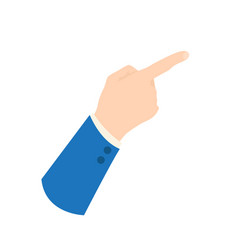 businessman hand icon - showing sign pointing vector image