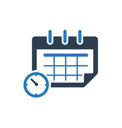 Calendar schedule icon vector